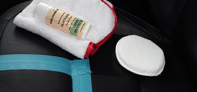 Glattlederpflege Vorbereitung