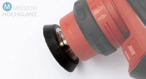 APS kündigt einen 50mm-Klettteller für Flex PXE 80 EC Minipolierer an