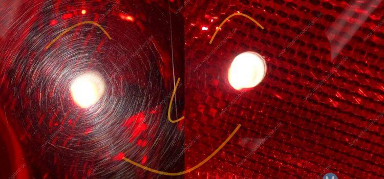 Rückleuchten auf Hochglanz polieren – Swirls und Kratzer entfernen